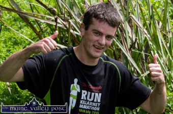David O'Connor from Camp wading his way through HercOileán - The Island Warrior Challenge at An Riocht