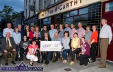 At the Castleisland Race Committee cheque presentations at Tom McCarthy's Bar on Friday night were, front row: Jim Lordan, Kathleen O'Callaghan, Mags O'Sullivan, Leo Murphy, Betty Riordan, Charlie Farrelly, committee chairmen; Miriam McElligott and Kate O'Mahony, Castleisland Senior Citizens Houses Committee and Lacey Kerins-Reidy. Back row: Seamus O'Connor, Mary Murphy, John Ryan, Mary O'Sullivan, John Murphy, Kay Reidy, Bill Reidy, Donal Nelligan, Martina O'Mahony, Ted Kenny, Martin Conway, Tom O'Sullivan, Kathleen Horan, Catherine Murphy and James Maher. ©Photograph: John Reidy
