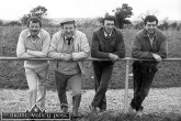 Watching the soon to be 1985 All-Ireland Club Champions go through one of their final training sessions on a Sunday morning in February of that year. From left: John Pender, Jimmy Greaney, Johnnie Roche and Micheál O'Donoghue. ©Photograph: John Reidy 17-2-1985