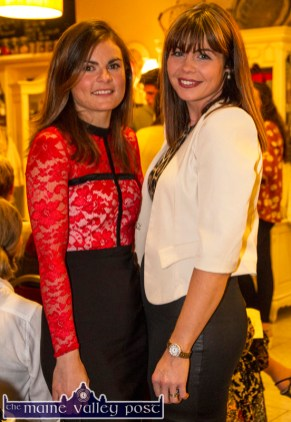 Maria Galvin, Galvins Optometrists (left) and Norma Reidy of Shine Hair Salon pictured at the Castleisland Fashion Capital of Kerry show at Nana Bea's Restaurant and Coffee Shop on Thursday night. ©Photograph: John Reidy