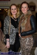 Local sisters: Brita Galwey (left) and Gretta O'Connell at the Castleisland Fashion Capital of Kerry show at Nana Bea's Restaurant and Coffee Shop on Thursday night. ©Photograph: John Reidy