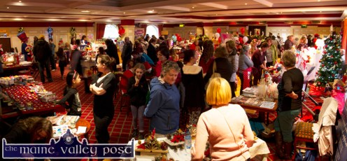 The busy scene at the Castleisland Christmas Craft Fair at the River Island Hotel on Saturday afternoon. © Photograph: John Reidy
