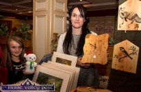 Margaret O'Sullivan and her daughter, Róisín O'Donoghue from Ballingeary at their Cobweb Crafts stand at the Castleisland Christmas Craft Fair at the River Island Hotel on Saturday. © Photograph: John Reidy