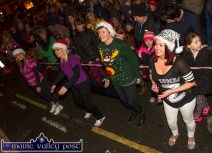 Zumba Street dancers from left: Sandra O'Connor, Mandy Keane, Oorla Casey and Eileen Carty getting into the mood of the Castleisland Chamber Alliance street party on Friday night. ©Photograph: John Reidy