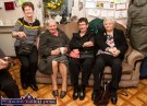 Rosaleen Moore, Westport, Co. Mayo (left) pictured with: Mary Morrissey, Lyreacrompane; Ann Higgins, Galway and Concepta Murray, Mayo at Mrs. Nora Curtin's 100th birthday celebrations at her home in Knightsmountain earlier today. ©Photograph: John Reidy