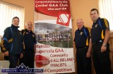 Cordal GAA Club officers making plans for the great times ahead at their clubhouse in September 2013. Included are: Nora Fealey, Charlie Farrelly, the late Tom Wrenn and Richard O'Donoghue. ©Photograph: John Reidy 15-9-2013