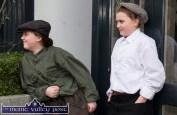 Gaelscoil Aogán pupils, Laura Ni Choitir (ar clé) agus Sharon Ni Liathain in dress for Thursday's St. Patrick's Day Parade in Castleisland. ©Photograph: John Reidy