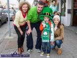Ethan Ward-Higgins pictured with his parents, Danial Ward and Christine Higgins and granny Esther Ward at the Castleisland St. Patrick's Day Parade on Thursday. ©Photograph: John Reidy