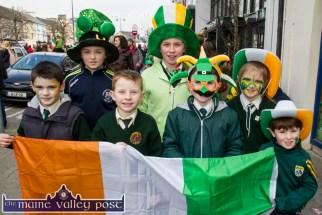 Scart participants in the St. Patrick's Day Parade in Castleisland included; Eoin O'Connor, Gary Boyle, Seán Butler, Tara and Seán Kerin and Leah Boyle. ©Photograph: John Reidy