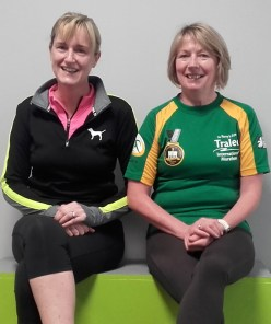 Jeane O'Sullivan (left) and Catherine Conroy after a training for the Kingdom Come Lee Strand / An Ríocht AC 10 Miler which is due to get under way at 11am on Sunday morning. Photograph: Cathleen Reidy 9-4-2016