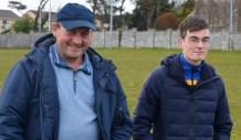Michael and Mark O'Donoghue enjoying the Division 3A Minor Final last Friday.