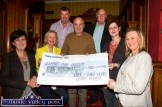 River Island Hotel Card Players committee members: Donie Cremins, John O'Connell and John Skevena O'Sullivan presenting a €500 cheque to Support for Autism representatives from left: Hannah O'Connell, Noreen Hartnett, Louise Nolan and Sandra O'Connor. ©Photograph: John Reidy