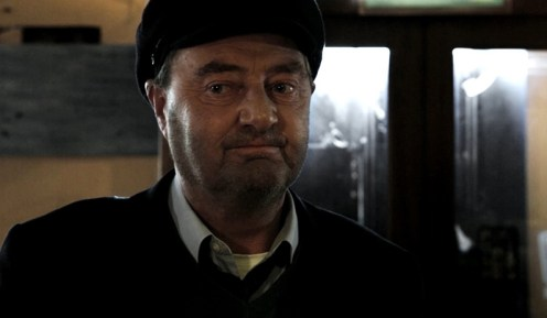 Jon Kenny in the title role of retired postman, Pat in Shaun O'Connor's Boston Film Festival premiered film. Screenshot by Shaun O'Connor.