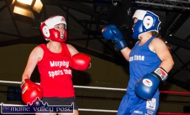 Elaine Guiney (left) and Mariah Curtin did the Desmonds Ladies proud with a spirited bout.