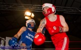 An agile Tomás Lynch takes evasive action in his bout with Nicky Smith.