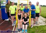 The first bunch home in the Couch-to-3K Road Race at An Riocht AC on Friday evening included from left: Seán Leahy, Brosna; Emer Nelligan and Catherine McCarthy, Castleisland; Laura Fitzgerald, Scartaglin; Pat McCarthy, Currans; Norma Cahill, Liam Bell and Fred Browne, Knocknagoshel. ©Photograph: John Reidy