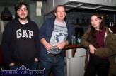 Patrick Roche, Castleisland and Galway (centre) pictured with Jay and Laura O'Donoghue at Browne's Bar at the opening night of the Mike Kenny Arts and Music Weekend on Friday night. ©Photograph: john Reidy
