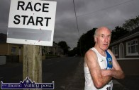 Over 70 race winner, Jim Langan from Tullamore Harriers AC pictured at the start of the first of the series of three September 5K Road Races / Fun Runs in Castleisland on Wednesday evening. ©Photograph: John Reidy