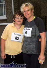 David Peskett with his mom, Nora at the start of the first of the series of three September 5K Road Races / Fun Runs in Castleisland on Wednesday evening. ©Photograph: John Reidy