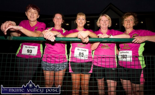 Fun to Run group members from left: Noreen O'Gorman, Marie Hickey, Eileen Brennan, Catherine Conroy and Sheila Curtin pictured after they completed the second leg of the three September Wednesday evening 5K Road Races / Fun Runs at An Ríocht AC Castleisland. ©Photograph: John Reidy
