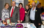 Guest speaker, Gavin Duffy and then Cllr. Danny Healy Rae - now TD, visiting the Castleisland Day Care Centre stand and being welcomed by Nurse manager, Marcella Finn (left) with Eilish Moynihan and Kathleen Griffin at the 2015 Bank of Ireland Enterprise Town Expo. ©Photograph: John Reidy