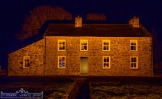 Pat and Melanie Walsh's new home fully restored and bathed in Christmas lighting. ©Photograph by John Reidy.