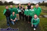 At the historic announcement of the all weather playing pitch joint venture between Castleisland Community College and Castleisland AFC were, front: Aidan O'Callaghan (left) and Kevin Moran. Back from left: Mike Brosnan, John Coffey, Pa O'Rourke, Teresa Lonergan, deputy principal and Carmel Kelly principal, Castleisland Community College; Georgie O'Callaghan, Donncha Hickie, Castleisland Community College; Seán Gallagher and John Mitchell. ©Photograph: John Reidy 6-2-2017