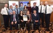 The Lee Strand / Kerry Garda Youth Achievement Awards which were held at the Ballyroe Heights Hotel, Tralee at the weekend. Kerry Comhairle na nÓg were the voluntary group award winners for 2016. Included are front from left: Jerry Dwyer, operations manager Lee Strand; Atlanta Kennedy, Tralee and Eimear Horgan, Currow and Eric O'Brien, Lee Strand. Back row: Supt. Dan Keane, Garda Liz Twomey, Garda Cecilia Scanlon, Barry Sugrue, Tralee; Madeleine Frissung, KDYS and Kerry Comhairle na nOg Co-ordinator; Eoghan O'Donnell, Tralee; Andy Smith, Kerry County Council; Supt. Flor Murphy and Supt. Tom Myers. Photograph: Domnick Walsh © Eye Focus LTD