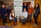 Guests and performers at Saturday night's Handed Down lecture in Scartaglin included: Maebh O'Connell, Cill na Martra and Peter Browne, RTÉ; Back: Kirill Healy, Kilcummin; P.J. Teahan, Castleisland, organiser; musicians, Con Moynihan and Billy Clifford and Maggie Prendiville-Keane, Castleisland. ©Photograph: John Reidy