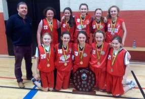 The St. Mary's Basketball Club / Castleisland Communuty Games U-13 team which won the Kerry Community Games final and now go forward to the Munster championships in UL on April 2nd. Front row from left: Blathnaid Casey, Muireann Rahilly, Emma Kerin and Abbie Mahony, joint captains and Rebecca Reidy. Coach: Tommy O'Connor with: Ciara Casey, Shauna Tangney, Chantelle Broderick, Hannah Herlihly and Muireann Walsh.