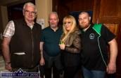 All hands on Deck: Castleisland AFC members: John Mitchell (left) pictured with: Seán Gallagher, Jennifer O'Sullivan-Coffey and John Coffey 'doing the door' at the Castleisland AFC Lip Sync Battle on Friday night. ©Photograph: John Reidy