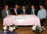 Mayor Yvon le Bris of Bannalec and Mayor of Kerry, Cllr. Michael Healy-Rae signing the Twinning Charter between Bannalec and Castleisland - with, from left: Paddy McCrohan Chairman of the Castleisland Twinning Committee; Cllr. Tom Fleming and Roger Carnot, Chairman of the Bannalec Twinning Committee. The function was held at An Riocht Athletic Clubhouse. ©Photograph: John Reidy 28/10/2007
