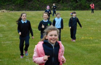 Wide open space around Curranes National School were put to good use during the Activity Week.
