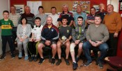 Scartaglen GAA Club made presentations to Eddie Horan and Shay Walsh to honour their achievements in making the Kerry minor and U-17 teams in 2017. Included are, Front: Evan Horgan, Noreen Rahilly, Eddie Horan, Martin Horgan, Shay Walsh, Sean Horan and John Horan. Back from left: Tadhg O'Connor, Connie Kerins, Anne-Marie Buckley, James O'Donoghue, Pat O' Sullivan, Jerome O'Driscoll, John O'Donoghue, Tim O'Connor and Mike Murphy. Photograph: Tom O'Donoghue / Kingdom Photography