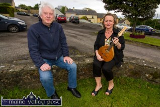 Musicians, Charlie Piggott and Mary Lawless pictured at the World Fiddle Day Scartaglin celebrations on Saturday afternoon. ©Photograph: John Reidy