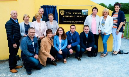 The extended Wrenn Family around the newly unveiled Tom Wrenn Memorial Stand. CúlPix/Nora Fealey 2017©