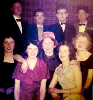 My grandmother at a Church Choir social in the Carnegie Library. She is in the front row second from the right, next to Marion Fitzmaurice. Can anyone fill in the rest of the names ? Photo courtesy of Tom Horan, far right.