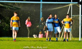 Friendship and sportsmanship was clearly visible during this week's Cordal v Glenflesk match as Glenflesk goalie Shane Dennehy gives Tim O'Donoghue a shoulder to lean on. CúlPix / Nora Fealey 2017