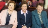 Mrs. Stack, Mrs. Harnett and Mrs. Healy at the Abbeyfeale Community Alert Seniors Lunch at Fr. Casey's GAA Clubhouse.