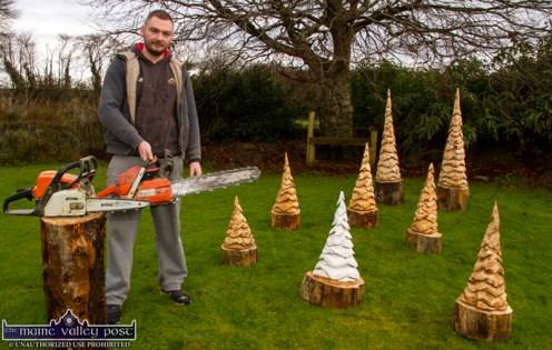 Luke King Christmas Tree Carving 9-12-2017