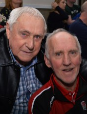 Adrian Fleming senior pictured with Donal Duke O'Connor on the final day of the 48th annual Christmas Blitz.