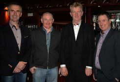 At the reception for 2017 TG4 All Star Kerry and Desmonds club footballer, Lorraine Scanlon on Saturday night were from left: Denny Lyons, Billy Mangan, Paud Scanlon and Stephen Murphy. Photograph: Pat Hartnett.