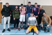 Organisers and guests with the runners up in theU-18 section with Helena Falvey, KDYS (left) and Garda Liz Twomey with special guest, Garda Aidan O'Mahony are: Daniel Costello (front) with: Jordan O'Connor, Dominic Prendiville, Kenneth O'Connor and Darren Maunsell at the 10th annual KDYS / Garda Good Friday Basketball Blitz at Castleisland Community Centre. Photograph: KDYS/ Garda