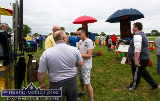 Action in the betting ring between races at Castleisland Races on Sunday afternoon. ©Photograph: John Reidy