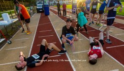 These young athletes chilling out after crossing the finishing line of the last of the three autumn 5K races at An Ríocht AC, Castleisland. ©Photograph: John Reidy