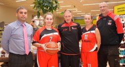 Garvey's SuperValu, Castleisland Manager Seamus O'Connor (left) with Orla White, Eamon Egan, club chairman; Mary Herlihy and Maurice Casey club vice chairman.
