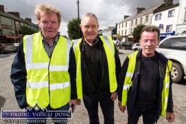 On stewarding duty: Ted Kenny (left) with John Ryan and Timmy Murphy at the annual Paudie Fitzmaurice Memorial Charity Tractor Run. ©Photograph: John Reidy 9-9-2018