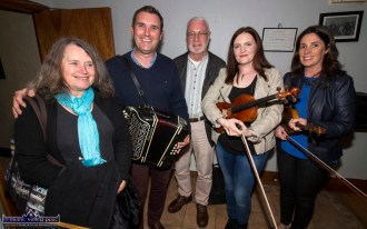 At the Handed Down special tribute to Peter Browne in Scartaglin on Saturday night were: Deirdre O'Sullivan, Paudie O'Connor, Paul de Grae, Aoife Ní Chaoimh and Noeleen O'Donnell. ©Photograph: John Reidy