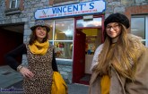 The venue, the models. Manager, Grace O'Connor pictured with Miriam Bohlert as they flagged this evening's 7pm fashion show at Vincent's on Church Street. ©Photograph: John Reidy