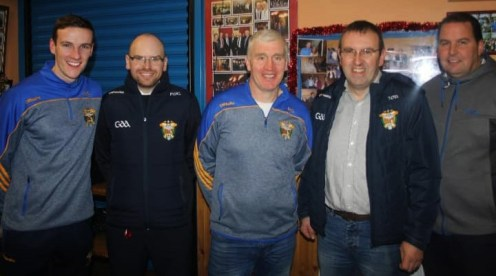 Incoming and outgoing officers pose for a photo at the AGM. From left: Philip O'Connor, Maurice O'Donoghue, Maurice Costello, chairman; Richard O'Donoghue and Tom Dennehy. Photograph: Danny Kelliher